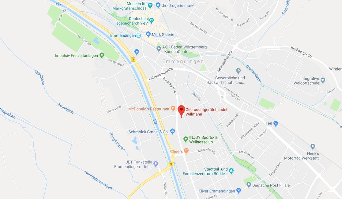 Standort Gabelstapler Willmann